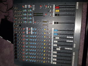 ALLEN AND HEATH PA12 MIXER, MIC AND RECIEVER