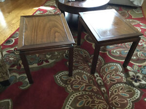 $75 for two end tables - walnut