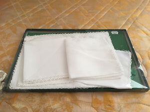 Irish linen set of four placemats and napkins (luncheon set)