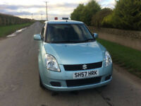 2007 57 Suzuki Swift 1.3 GL Petrol Blue 5 Door MOT November 2018.