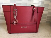 Guess Purse, Red, one month old