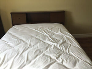 double bed mattress ,box spring, frame , dressers night stand ,