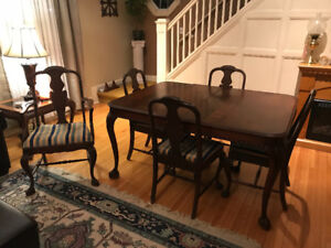 1930's Antique Andrew Malcolm Dining Table