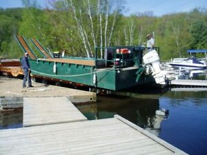 Barge and Motor