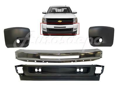 Replacement Chrome Front Bumper Combo For Chevrolet Silverado 1500 2007-2013