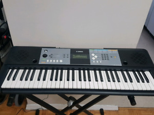 Yamaha Keyboard PSR-e233 with Adapter & Folding Stand .