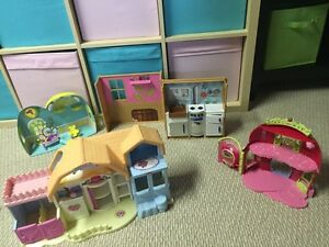 Four small play houses