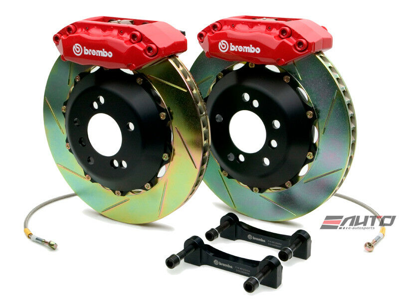 Brembo Front Gt Big Brake 4 Piston Red 328x28 Slot Disc For Acura Cl Ya1 97-99