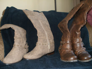 Ladies Tall Faux Leather Boots
