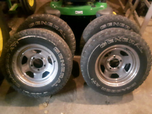 Aftermarket chrome 16 inch dodge ram rims and tires