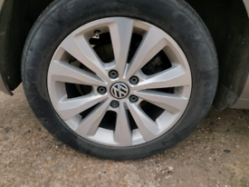Vw golf toronto mk7 mk6 alloy wheels tyres caddy jetta 16 inch 5x112