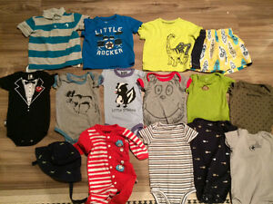 Boys 6-9 months summer clothing lot, brand name