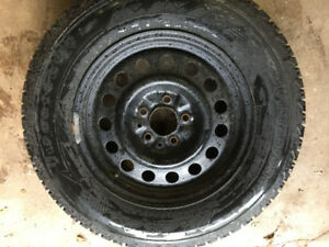 "Firestone Winterforce 17"" Snow tires and Rims"