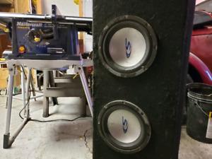 "2x 10"" alpine type S sealed slim  box"