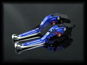 Adjustable Foldable Brake Clutch Levers For Suzuki GSXR1000 2001-2004 Blue