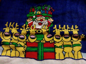 Two pack of CHRISTMAS HAND towels