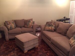 Couch, Loveseat & Ottoman