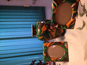 32 cm Vase & two 9 x 23 cm picture frames