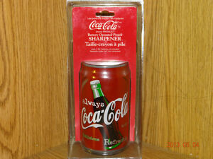 REDUCED - Coca Cola Can Pencil Sharpener Battery Operated - 1998