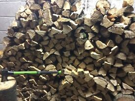 Dried logs, firewood, 15kg bags, can deliver
