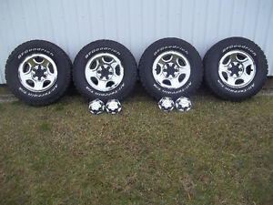 BFGOODRICH ALL TERRAIN TIRES AND GM RIMS