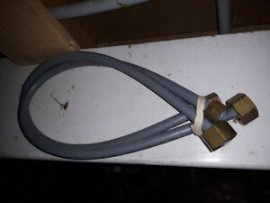 Flexible Pipes for bathroom Sink faucet bottom like new $5 pair.