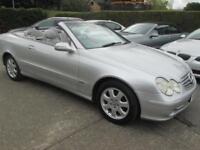 2003 53 Mercedes CLK 320 Elegance Convertible Auto Silver