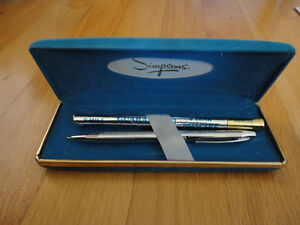 Vintage Simpsons ball point pen and refill set