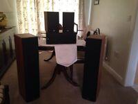 B&W surround sound speakers