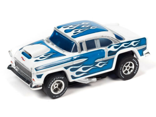 NEW Autoworld Blue Rel 30 55 Chevy Xtraction HO Slot Car Run on Aurora Tomy AFX