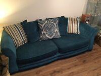 Dfs Luxury 4 seater and 1 1/2 cuddle chair.