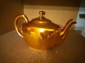 Royal Worcester gold teapot