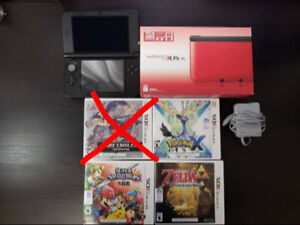 NINTENDO 3DS XL + 4 GAMES (GENTLY USED)