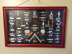 Nautical Knots in Picture Frame