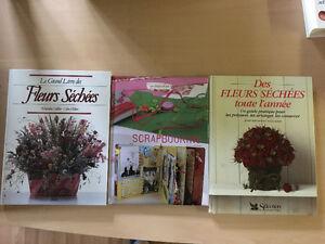 Lot 5 livres fleurs séchées, scrapbooking