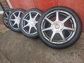 """17"""" alloy wheels fit vauxhall astra zafira bmw .. 5 x 110, 5 x 120"""