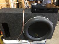 "12"" Jl audio w7 and an alpine amp"