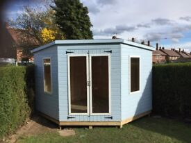 10ft x 10ft corner summerhouse/ shed garden buildings ( pent )