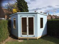 10ft x 10ft corner summerhouse/ shed garden buildings ( pent )