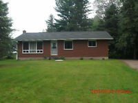 For rent: Two bedroom bungalow on 1 Acre country property