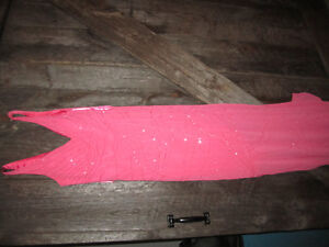 beautiful pink/coral dress with beading