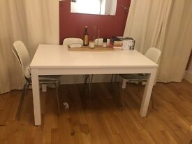 IKEA table and six chairs.