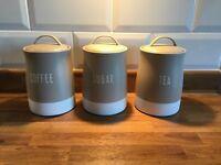 Tea, Coffee and Sugar Canisters - Like New