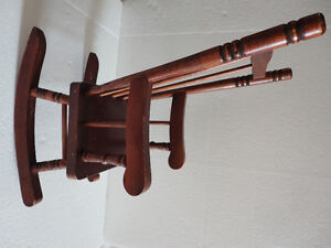 Handmade solid wooden decorative rocking chair for display London Ontario image 2