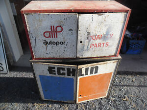 Vintage Advertising Part Cabinets