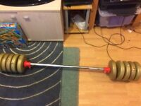 Weights with bar