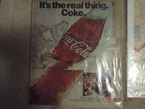10 Vintage Ads - Coke, Pepsi, 7-UP-Only $ 10.00 for all