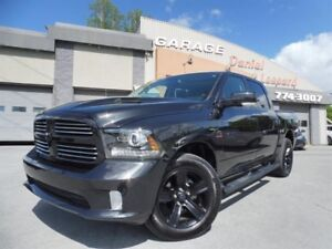 Dodge Ram 1500 SPORT, CREW CAB, CUIR, GPS TOIT, MAGS 20P, REBUIL