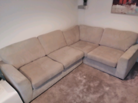 Light grey corner sofa. Free. NEED GONE ASAP.