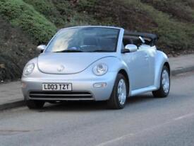 2003 Volkswagen Beetle 1.6 pertol Convertible, low mileage